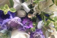 Blue and White wedding flowers / Bridal bouquets and wedding and event flowers in blue and white