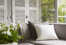 Shutters & Conservatories / Soak up the sun all year round in your dream conservatory... but screen out the harshest rays with pretty shutters. Here are our favourite inspiring images of conservatories and how to dress them
