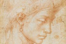 Ombre nelle opere di Michelangelo e Durer / Illustrazione delle ombre presenti nei disegni e alcuni dipinti - acquerelli e affreschi - dei due celebri artisti. Catalogazione per l'indentificazione di ombra propria e ombra portata.