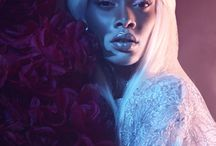 liana / human empress - dark skin, blonde hair
