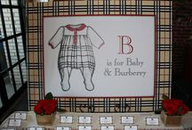 Burberry Theme Baby Shower / This is a Burberry Inspired Baby Shower theme.