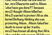 PLL theories / pretty little liars theories