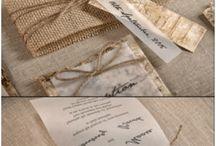 Wood wedding inv