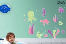 wall stickers for kids / Please find wall stickers by deko boko as perfect decorative accent to kids' rooms. The project's style is addressing perfectly to children's imagination. Bright colours and full of fun animal world will make every kids' space happy and comfortable to live in.