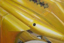 GOLDEN ARROW / VOITURE/RECORD/GOLDEN ARROW/LAC SALE BONNEVILLE/ PEINTURE Acrylique sur toile  60x60