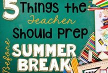 Summer Break Teachers / We share our favorite pins on ways to help you be productive over summer to plan for the upcoming school year!