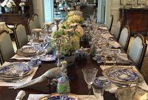 Formal dining settings