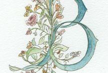 Monogrammi watercolor