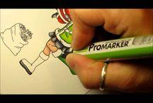 ProMarkers / Videoer og idéer til andet godt