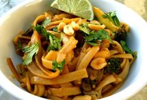 Vegan Pasta / Recipes for vegan pasta dishes. Mostly healthy. Includes gluten-free recipes.  / by Leigh Ann Hubbard