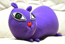 made by kiziumonster / soft sculpture / toys / monsters