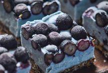 organic blue cake