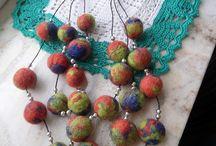 filcowa biżuteria / felt jewelry