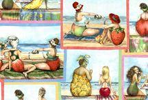 Fruit Ladies by Elizabeth's Studio