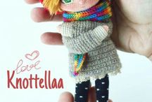 Knitted and crocheted dolls