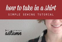 How to down size a shirt