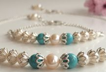 Bridal jewellery / Luxury handmade jewellery with freshwater pearls, silver and semi precious stones, perfect for a brides jewellery. Beautiful pearl bridesmaid bracelets and bridesmaid necklaces.