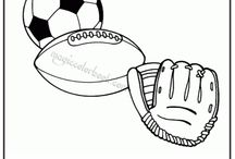 Sport Coloring pages free online / Free coloring pages online at: http://magiccolorbook.com/category/sport/