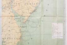 Antique Lighthouse Maps