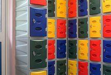 Bird's Bush Primary School / #storage #storageExpert #locker #lockers #storagesolutions