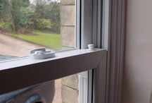 Stroud 2003 / PVCu vertical sliders (often referred to as 'sash windows'). These keep the look of the original windows, whilst benefiting from durable PVCu and and double-glazed units.