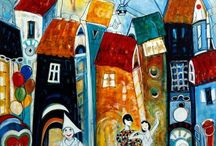 Art - Houses / by Judy McKay