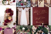Cranberries n Rose Gold Wedding