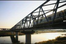家の近くの好きな風景。 It's a my favorite view. #railway #bridge #odakyuline #鉄橋 #小田急線 #快晴写真