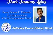 Prominent Zetas-Women's History Month / Celebrating Prominent Zetas during Womens History Month.
