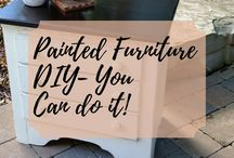 Painted Furniture DIY - You can do it too! / Painted Furniture Do It Yourself - You can paint furniture too! Painting Furniture DIY, Ideas, Inspiration