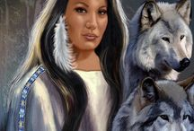 Wolves + Native American Women