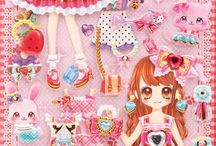 kawaii stickers and stationery