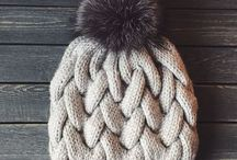 weft-knitted hats