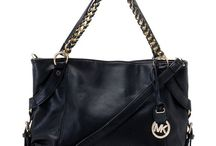 Michael Kors Tristan Large Shoulder Totes Black Leather