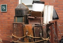 vintage suitcases / by CandyOh