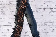 Cool lace jeans