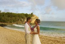 Classic Kauai Beach Wedding Photos / Aloha Ever After performs many Kauai beach weddings. Here is our selection of the best and most classic Kauai beach wedding photos.