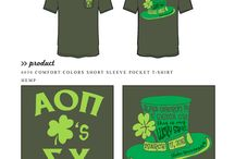 St. Patrick's / Greek sorority and fraternity custom shirt designs featuring St. Patrick's day themes. For more information on screen printing or to get a proof for your next shirt order, visit www.jcgapparel.com