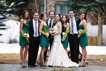 Wedding Parties / Various images of wedding parties -- bridesmaids, groomsmen, brides, grooms, flower girls, and ring bearers.