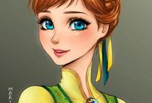 Anna / The best illustrations of Anna (Disney Princess)