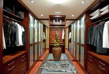 Walk-In Closet Ideas / A collection of pictures of luxury walk-in closet ideas and designs.