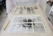 Cadaver Exquisito / Proyecto de intervención artistica y arte postal en colaboración con la Especialidad de grabado de la Pontificia Universidad Católica del Peru