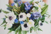 Anemone wedding bouquets