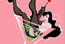 Pin up - Andrew Bawidamann / Pin up works by Andrew Bawidamann