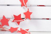 Stars Garlands / Decorate home with Bunting Garland Banner Stars Bunting Garland Banner for home, room, office, party, circus, birthday, baby girl, girls room, boys, baby boys, princess, star, newborn, baptism, 1st birthday, wedding, holidays.. by 21january on Etsy