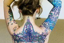 Tattoed skin