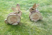 Lascas de madeira
