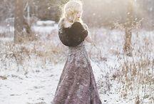 зима девушка рок