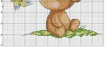 Medvědi - vyšívání
