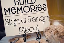 Guestbook / Whether you want your guests to take photos of themselves, sign a Jenga block, or you want a loving message to take away: we have all the ideas and inspiration you need.
